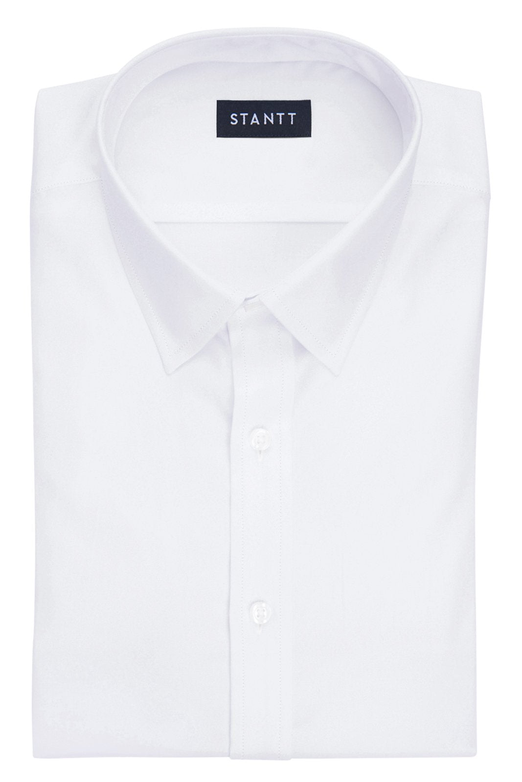 Wrinkle-Resistant White Oxford: Semi-Spread Collar, French Cuff
