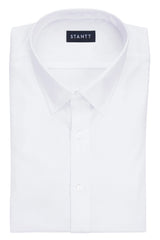 Wrinkle-Resistant White Oxford: Semi-Spread Collar, Barrel Cuff