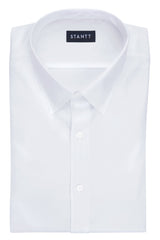 Wrinkle-Resistant White Twill: Semi-Spread Collar, French Cuff