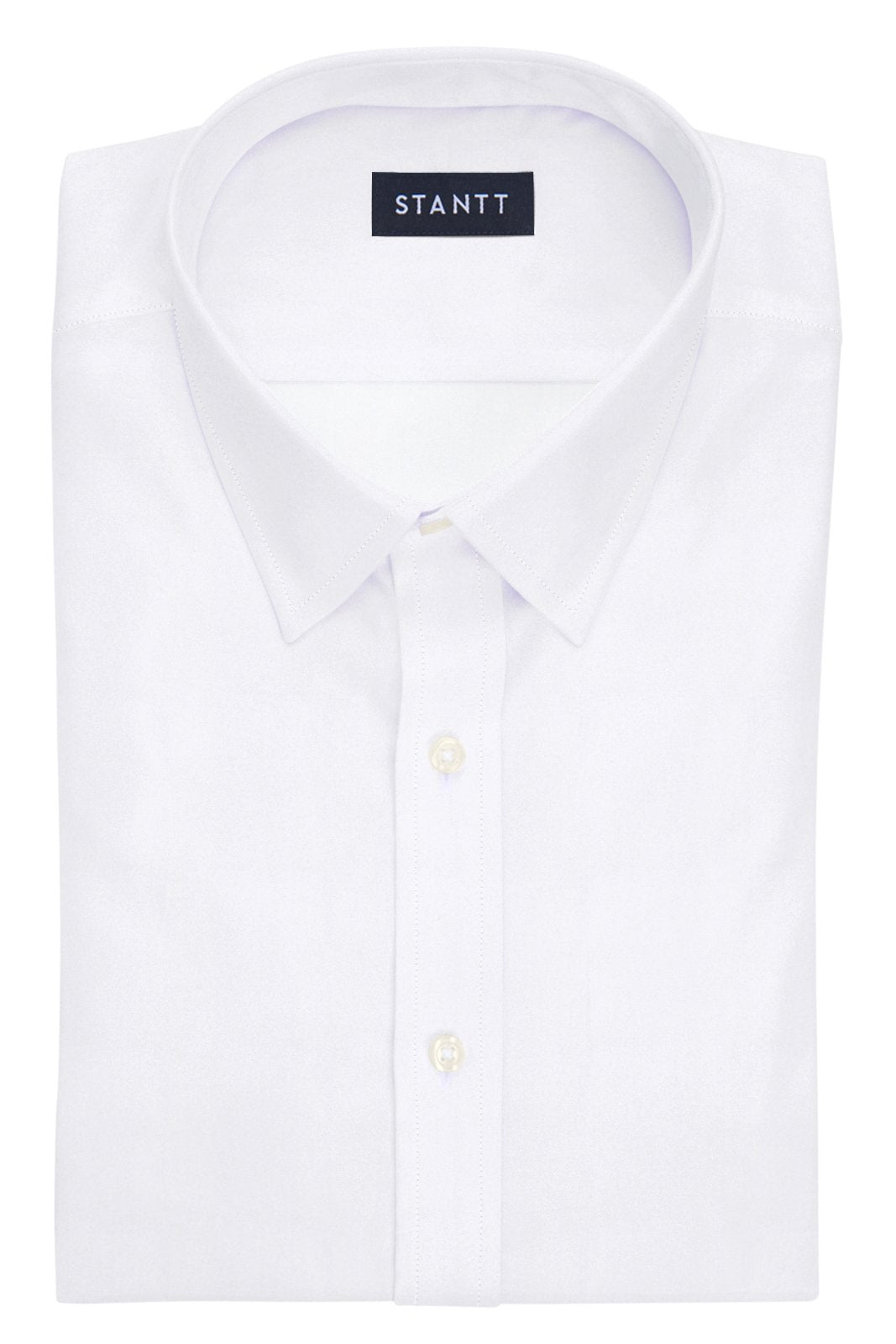 White Twill: Semi-Spread Collar, Barrel Cuff