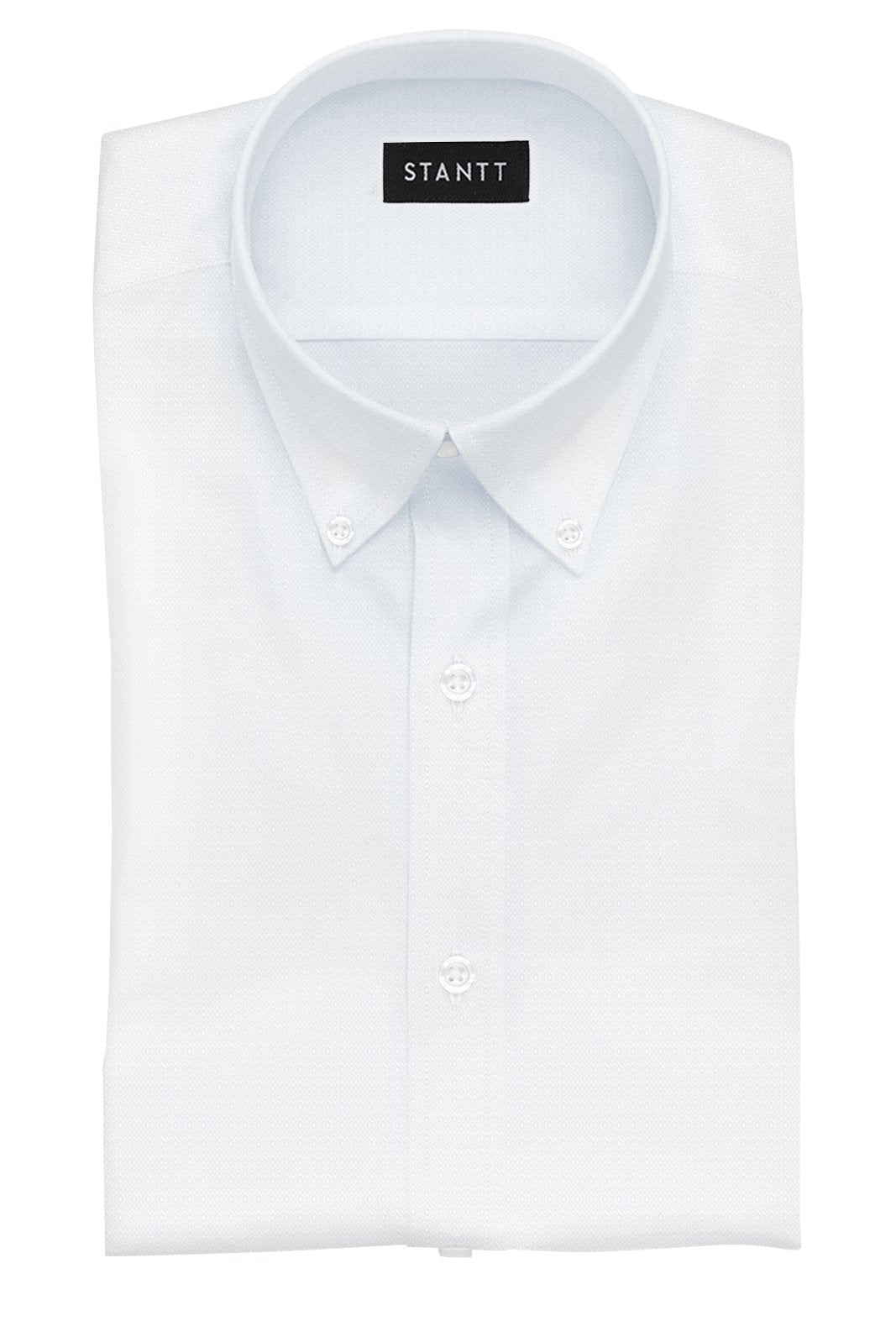 White Diamond Dobby: Button-Down Collar, Barrel Cuff