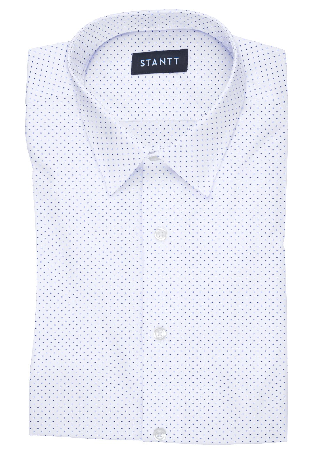 White Pin Dot: Semi-Spread Collar, French Cuff