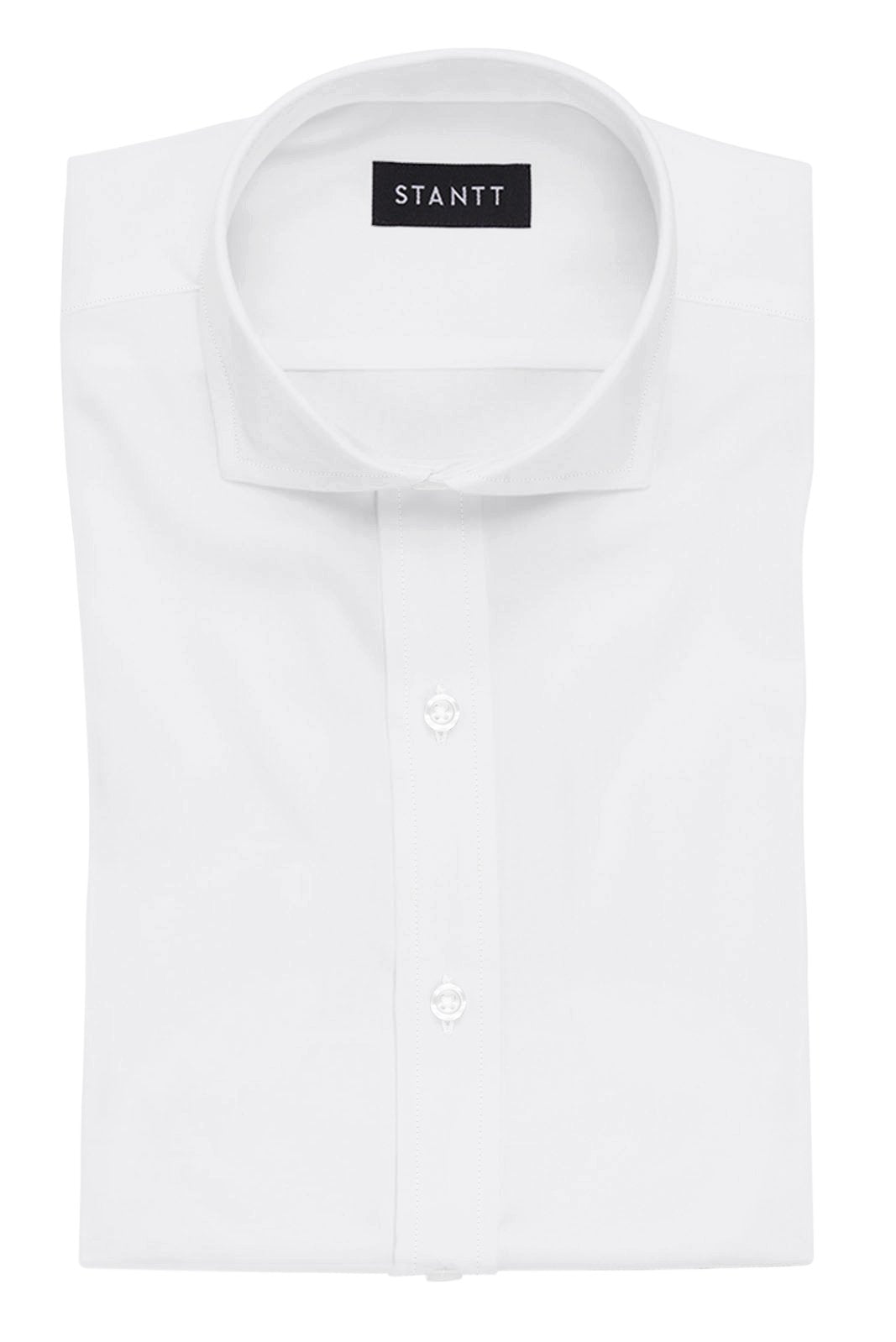 White Pinpoint Oxford: Cutaway Collar, French Cuff