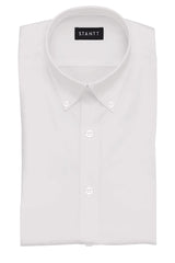 White Poplin: Button-Down Collar, Barrel Cuff