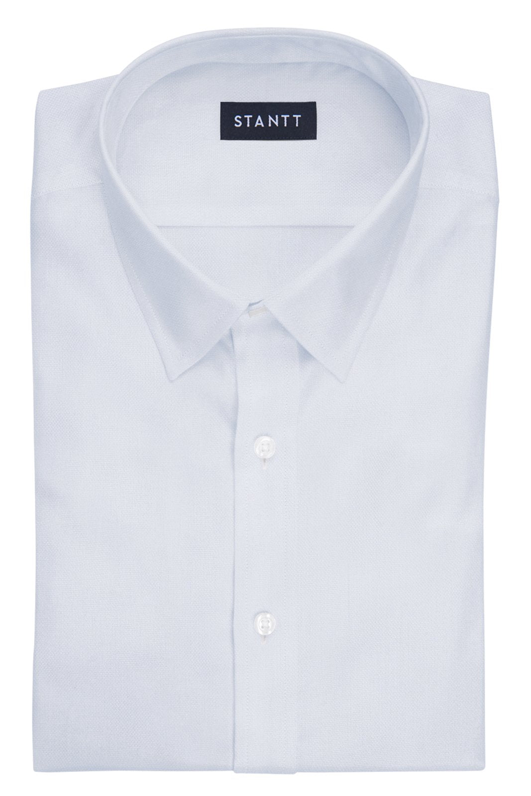 White Royal Oxford: Semi-Spread Collar, French Cuff