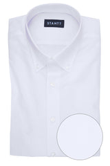 Wrinkle-Resistant White Heart Dobby: Button-Down Collar, Barrel Cuff