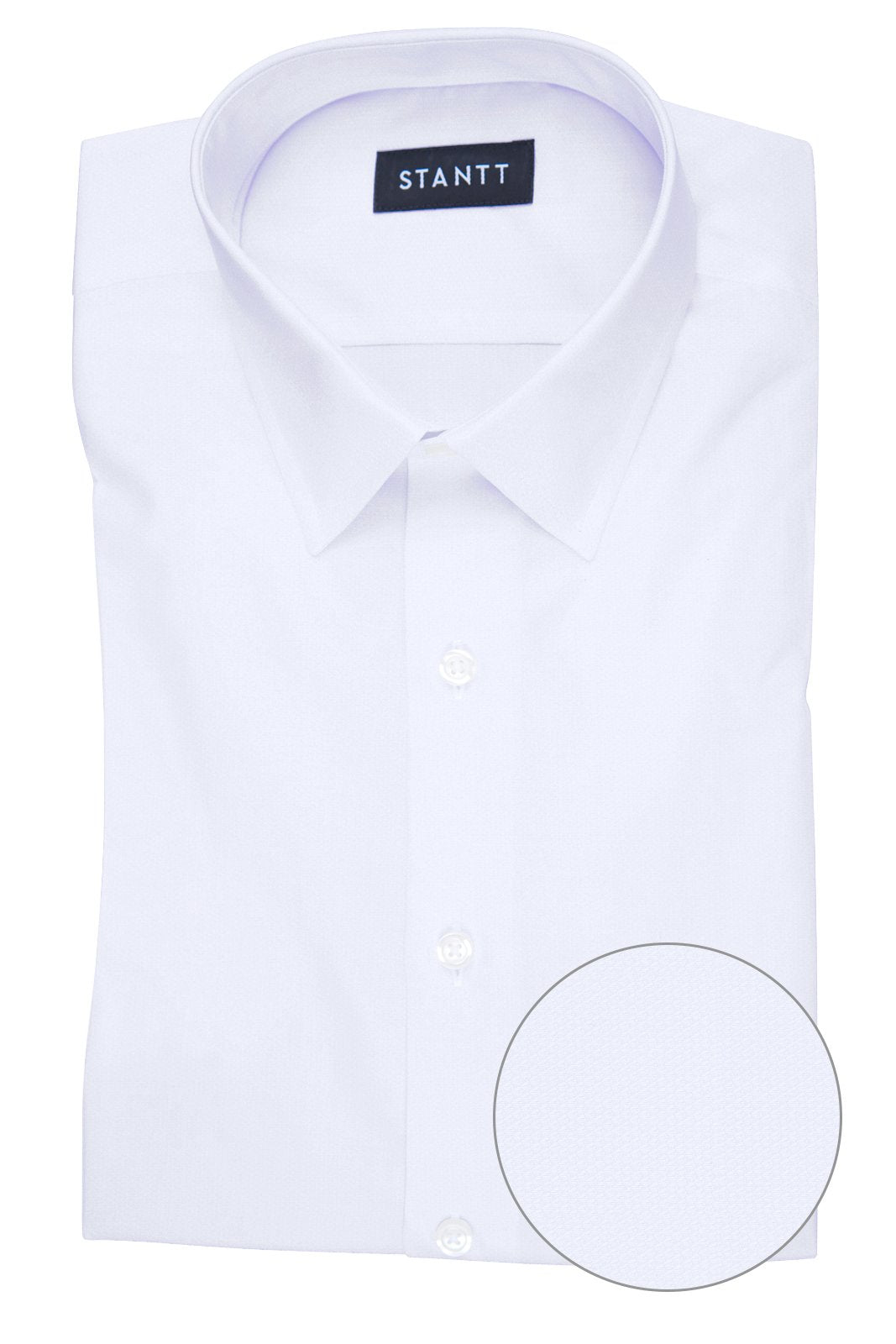 Wrinkle-Resistant White Heart Dobby: Semi-Spread Collar, French Cuff