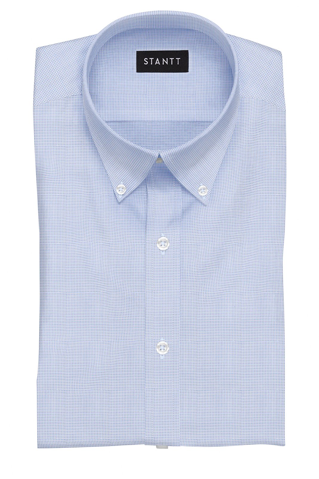 Blue Dobby: Button-Down Collar, Barrel Cuff