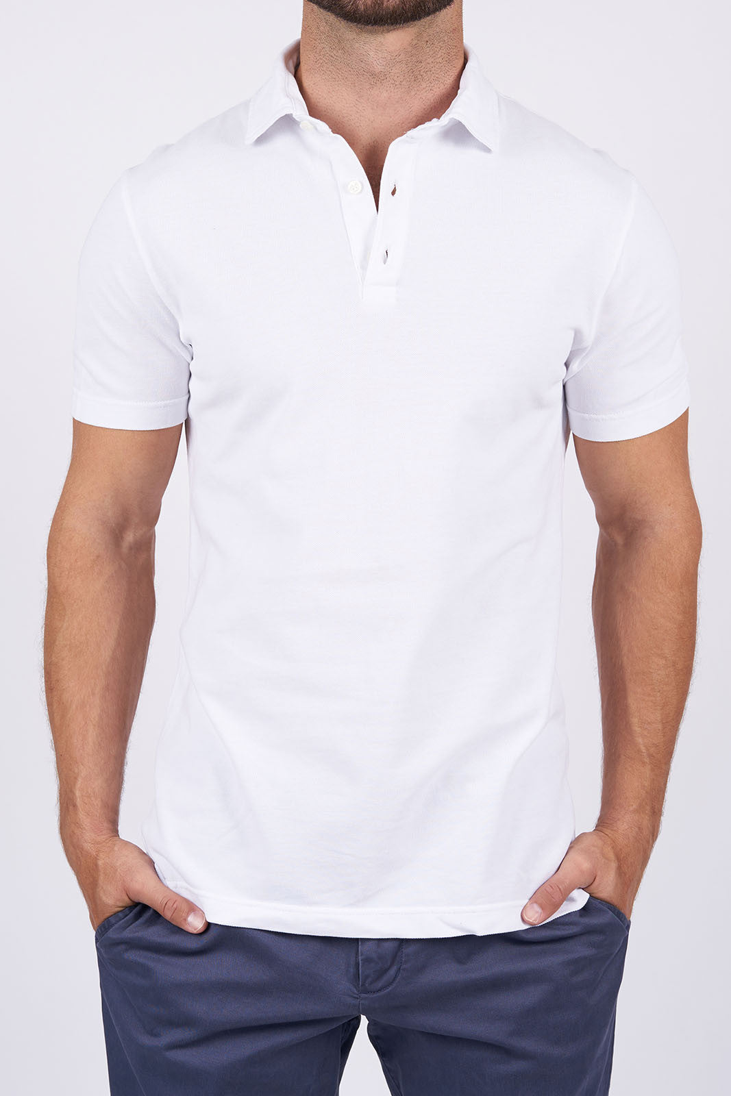 White Long-Staple Cotton Polo