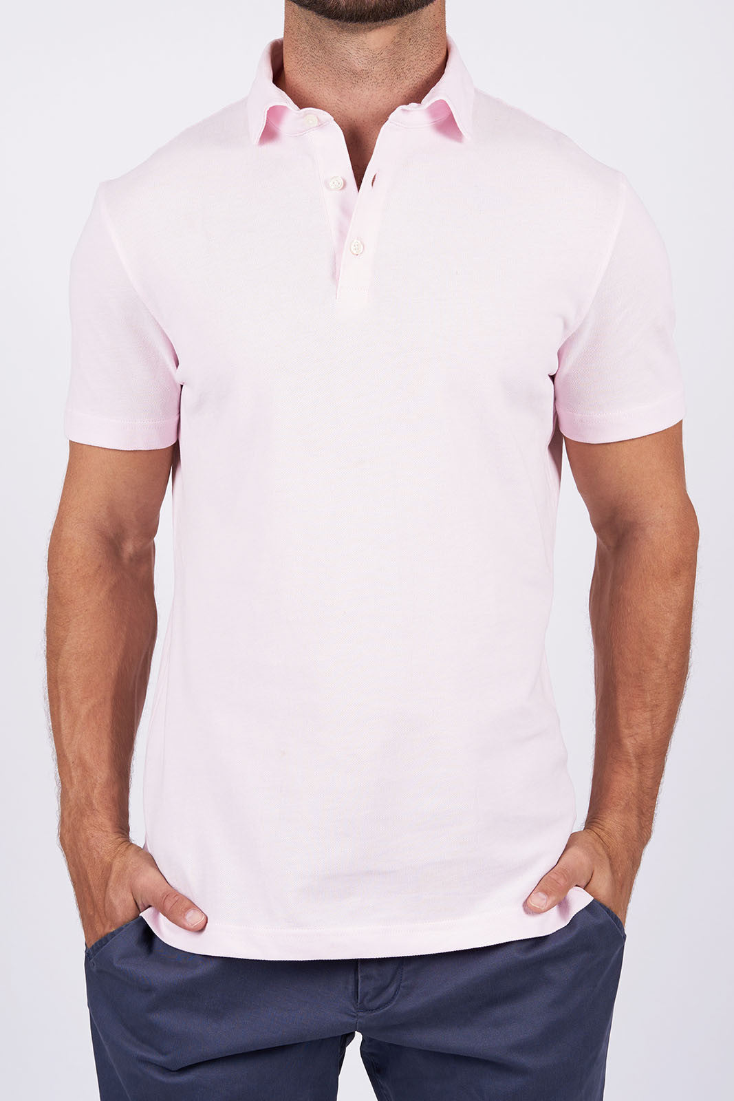 bb6894feaadb Limited Edition Stantt Button-Up Shirt. Light Pink Long-staple Cotton Polo.  Zoom