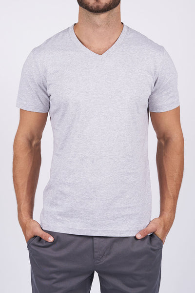 Heather Grey Long-Staple Cotton T-Shirt