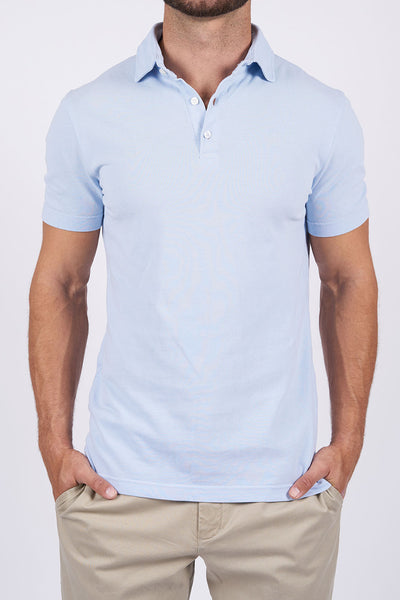 Light Blue Long-staple Cotton Polo