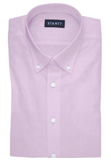 Fine Pink Twill: Button-Down Collar, Barrel Cuff