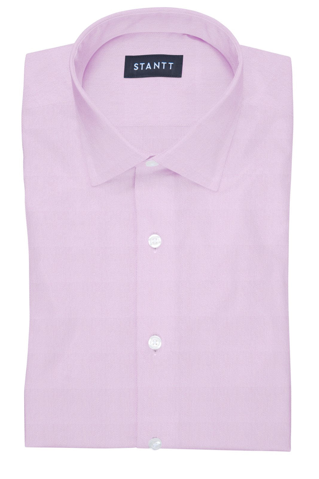 Fine Pink Twill: Modified-Spread Collar, Barrel Cuff