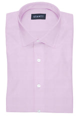 Fine Pink Twill: Modified-Spread Collar, French Cuff