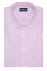 Fine Pink Twill: Semi-Spread Collar, French Cuff