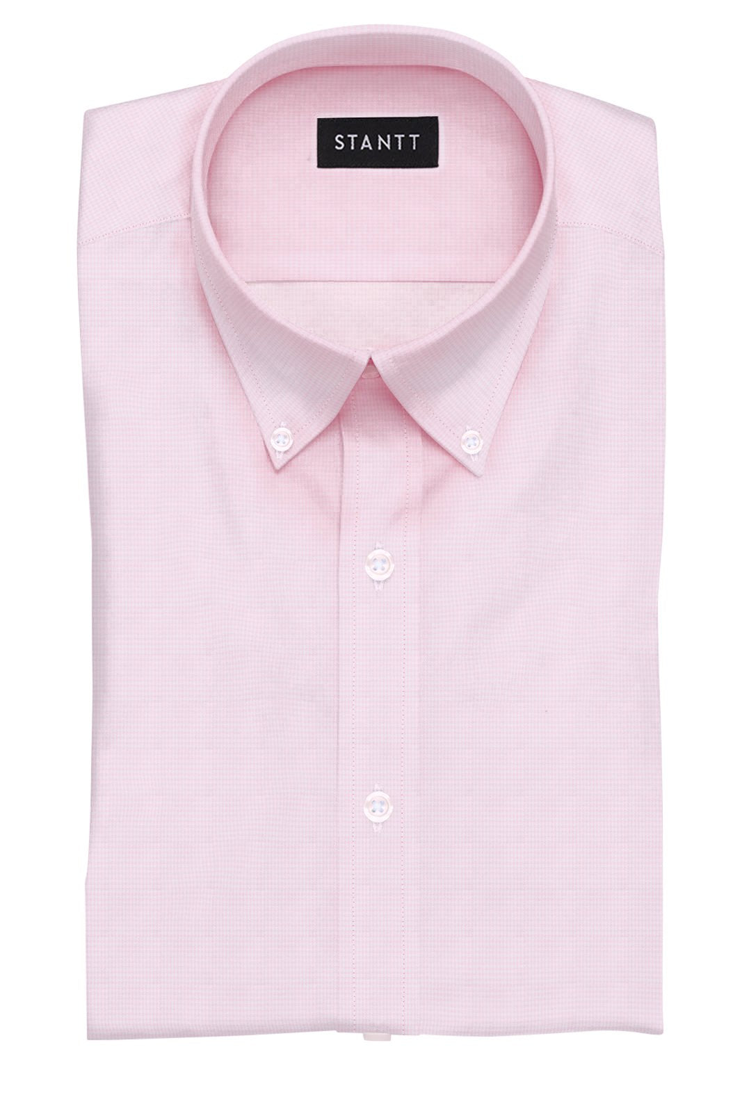 Pink Houndstooth: Button-Down Collar, Barrel Cuff