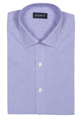 Purple and Blue Mini Tattersall: Modified-Spread Collar, Barrel Cuff