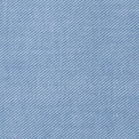 Stone Blue and Ecru Twill: Semi-Spread Collar, French Cuff