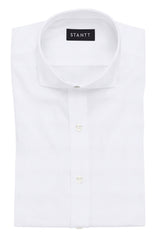 White Oxford: Cutaway Collar, French Cuff