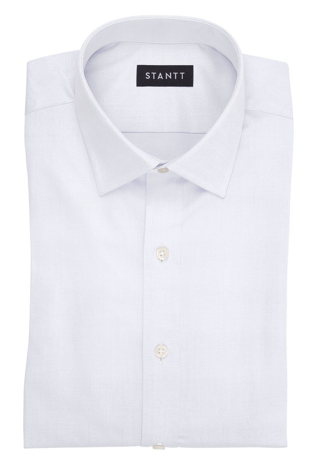 White Oxford: Modified Spread Collar, Barrel Cuff