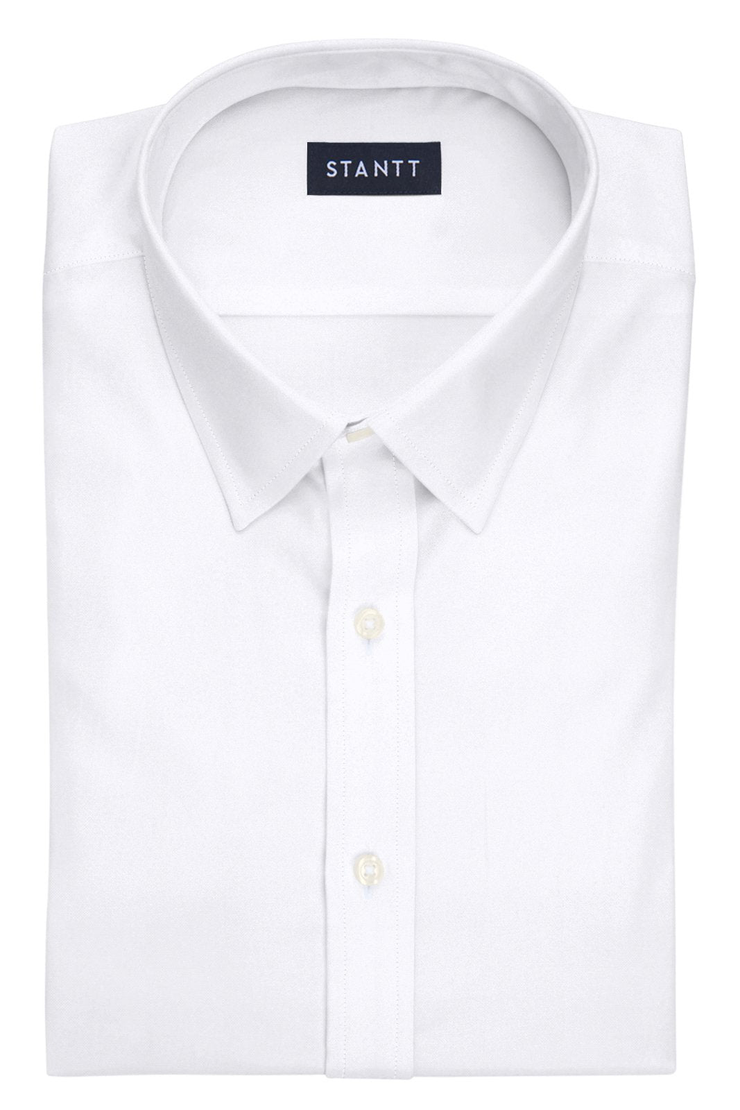 White Oxford: Semi-Spread Collar, Barrel Cuff