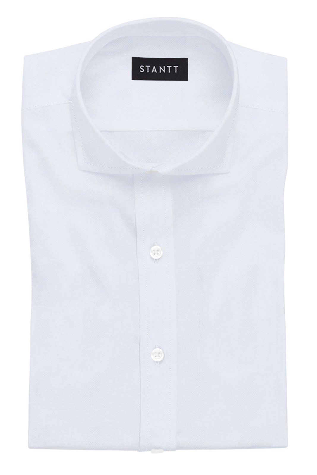 White Royal Oxford: Cutaway Collar, French Cuff