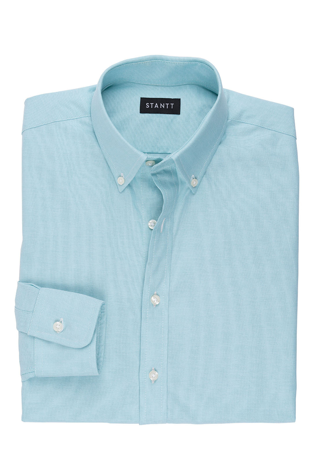 Turquoise Oxford: Button-Down Collar, Barrel Cuff