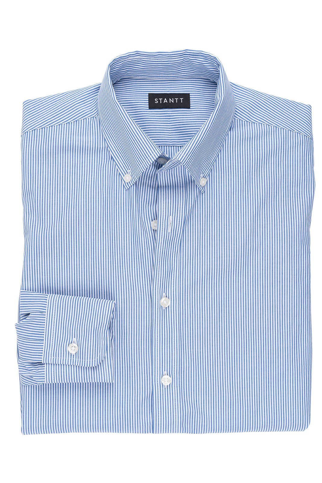 Navy Bengal Stripe: Button-Down Collar, Barrel Cuff