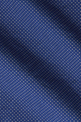 Navy Micro Dot: Semi-Spread Collar, Long Sleeve