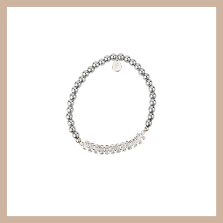 Eclipse Diamond Bracelet - Large Curve Tube