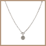 Nina Necklace - Rhodium