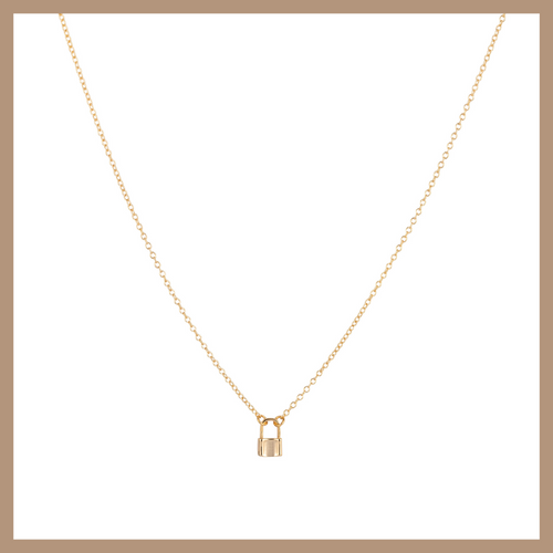 Katya Necklace - Lock- Gold