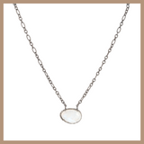 Eclipse Diamond Necklace -Rainbow Moonstone