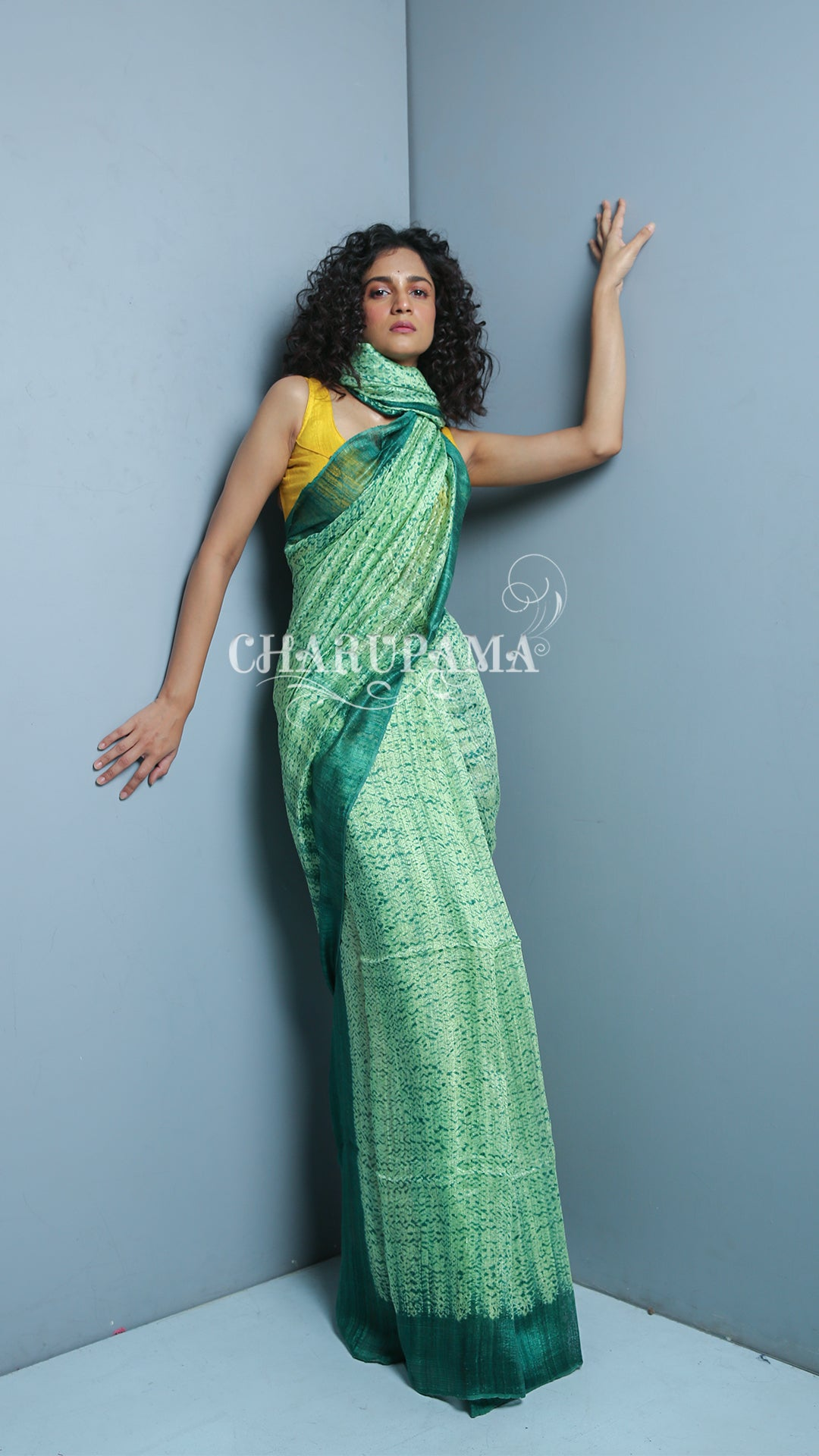Look Stunning In This Unique But Simple Green Matka Saree. This Matka Saree Can Make Anyone Look Elegant - Charupama