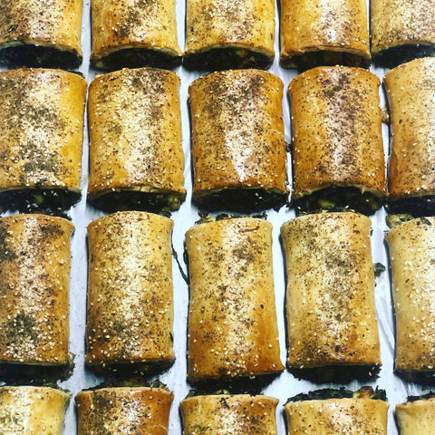 Mini Leek, Silverbeet & Halloumi Roll Packs - 6 Per Serve (V)