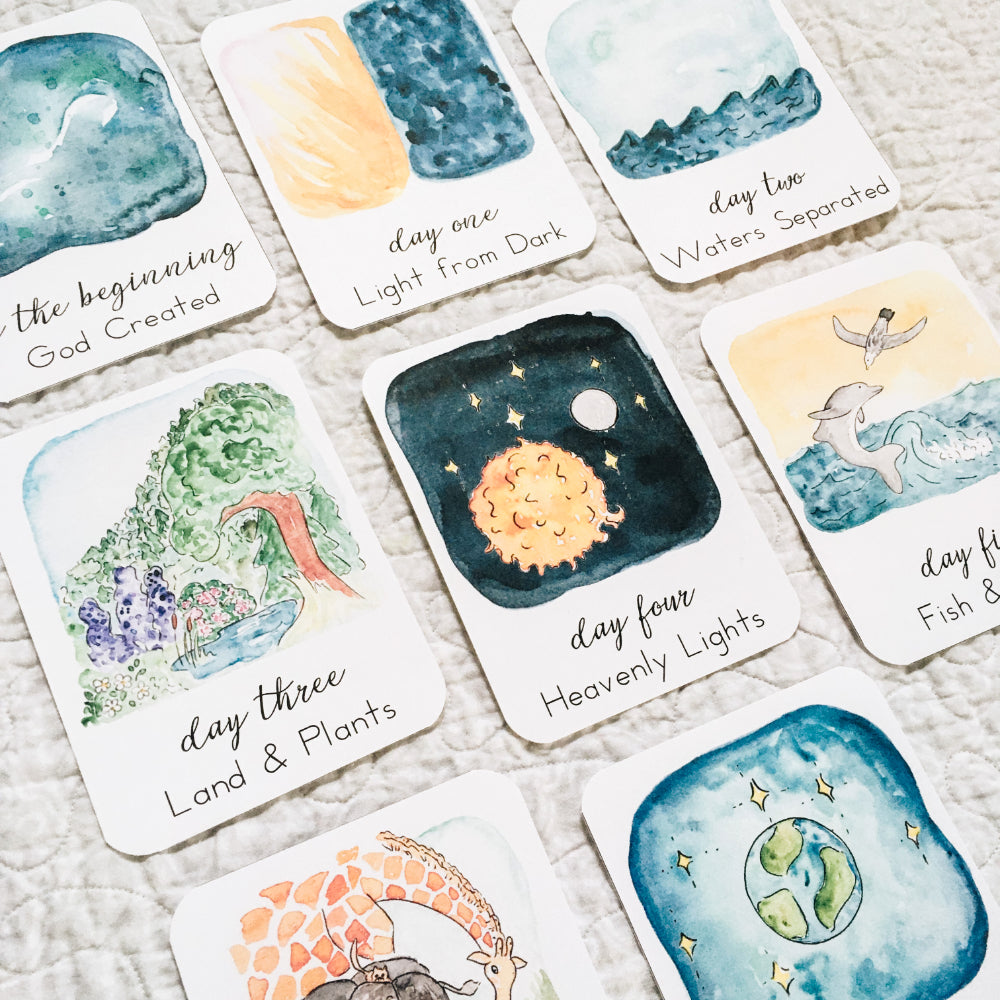 Days of Creation: Scripture Story Cards | Physical Print Version