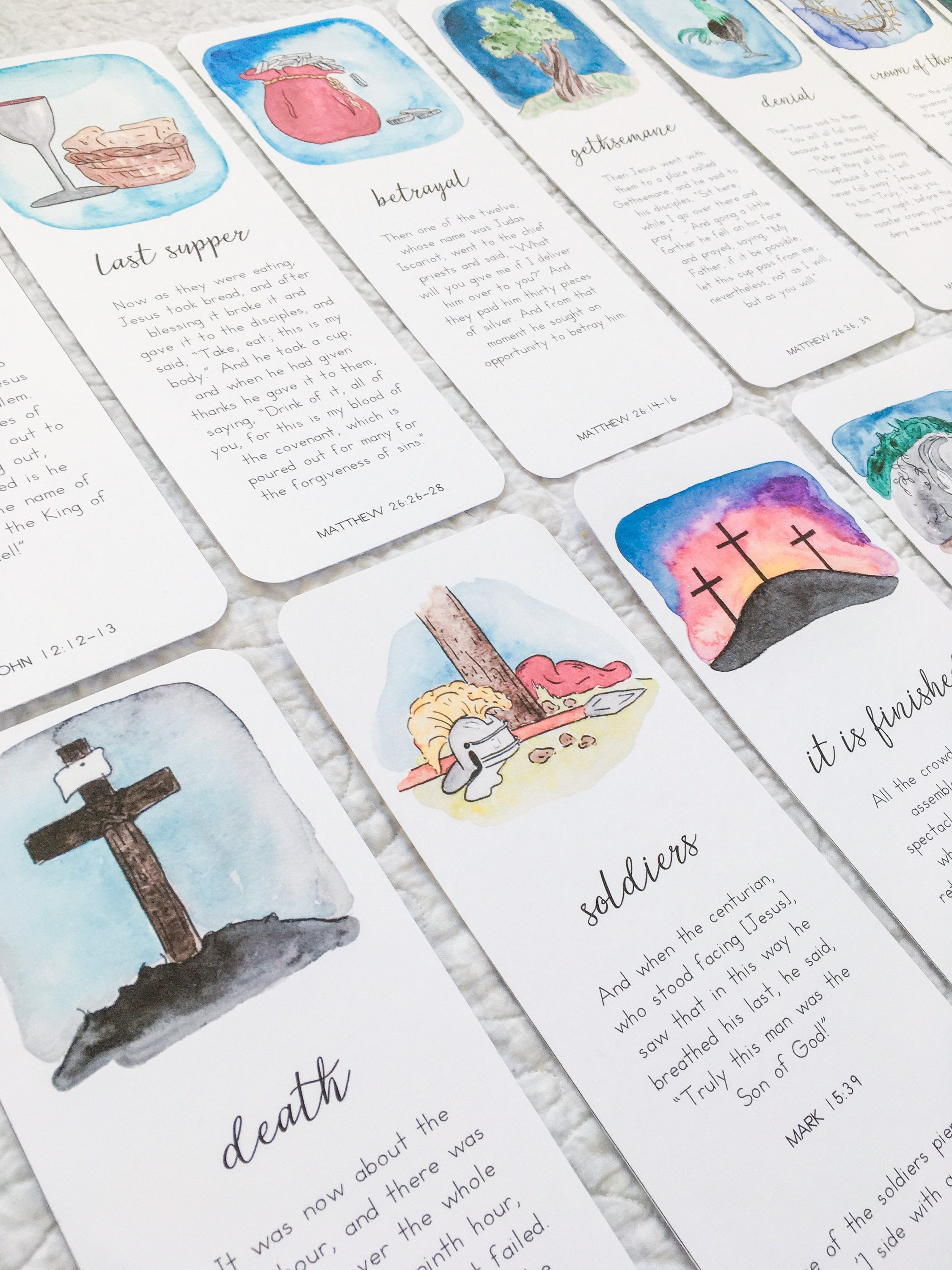 Easter Story Cards | Holy Week Religious Christian Scripture Printable