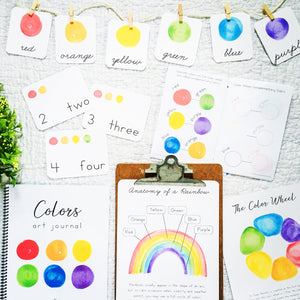 Rainbow Colors Collection | Montessori Homeschool Curriculum Art Printables