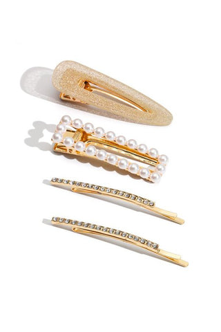 Pearl and Sparkle hair clip set