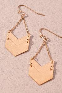 Double arrow drop earrings