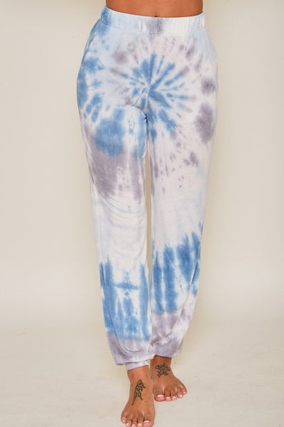 Spiral Tie Dye Sweatpants with Pockets