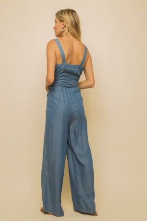 Front Button Jumpsuit