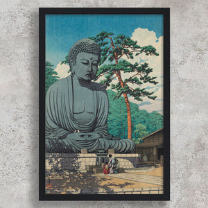 The Great Buddha at Kamakura - Kawase Hasui