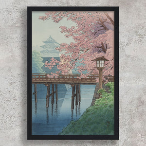 Cherry Blossoms and Castle - Ito Yuhan
