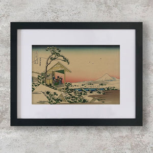 Teahouse at Koishikawa the morning after a snowfall - Katsushika, Hokusai - Cityofparadise - Japanese Print - Japanese Prints for sale - Japanese Woodblock Print