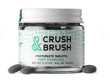 Load image into Gallery viewer, Toothpaste Tablets - Crush & Brush Mint Charcoal (2 Left)