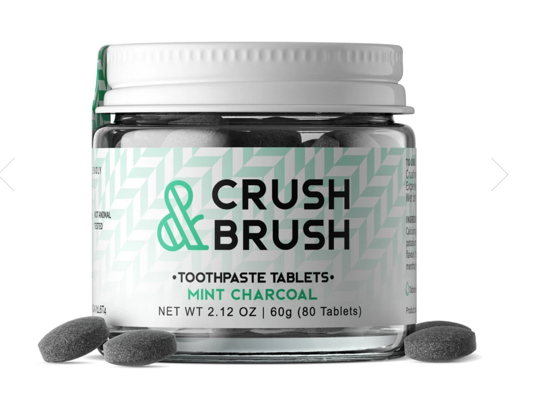 Toothpaste Tablets - Crush & Brush Mint Charcoal (2 Left)