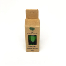 Load image into Gallery viewer, Eco Charcoal Dental Floss: Vegan, biodegradable and comes in glass bottle