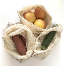 Load image into Gallery viewer, Cotton Mesh Produce Bags - 3 Pack
